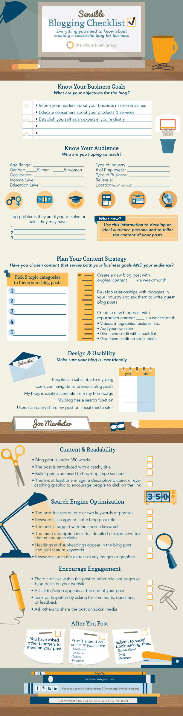 18. Sensible Blogging Checklist For Businesses [INFOGRAPHIC]