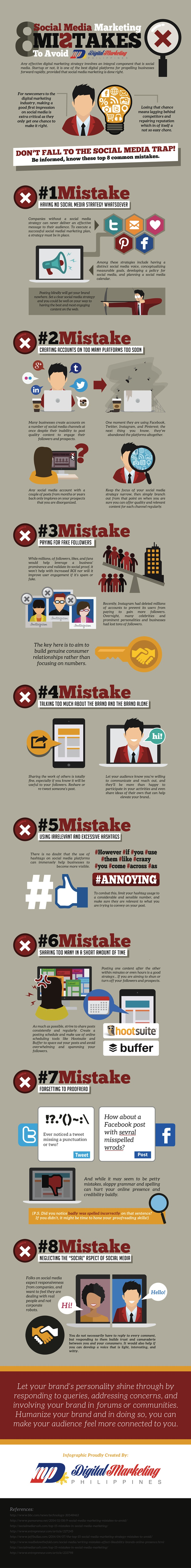 8 Social Media Marketing Mistakes to Avoid (Infographic)