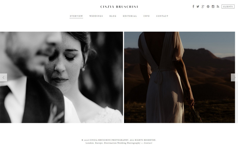 Best Photography Websites // Cinzia Bruschini