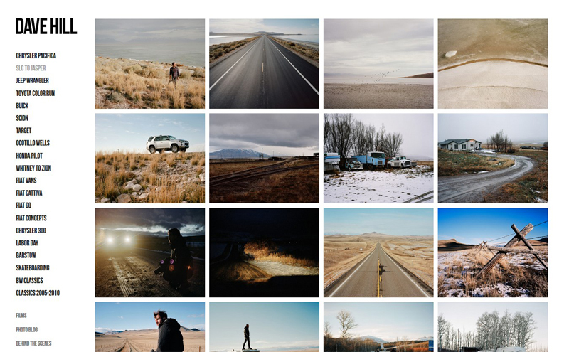 Best Photography Websites // Dave Hill Photo