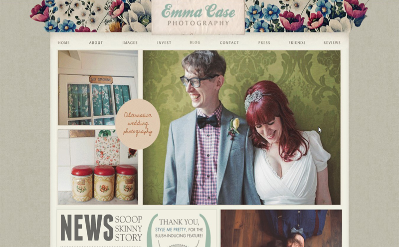 Best Photography Websites // Emma Case Photography