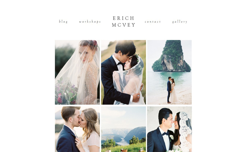 Best Photography Websites // Erich McVey