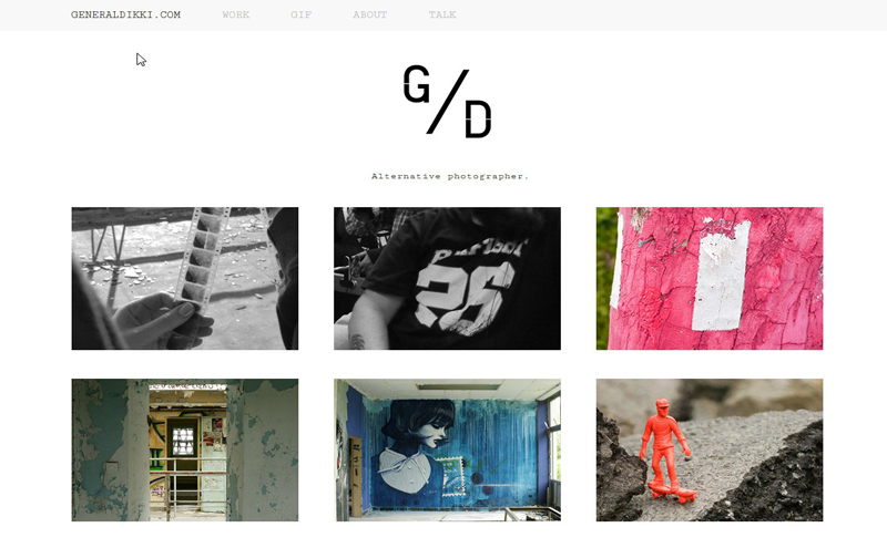 Best Photography Websites // General Dikki