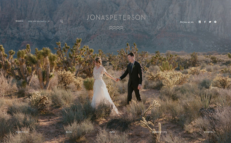 Best Photography Websites // Jonas Peterson