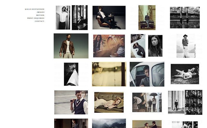 Best Photography Websites // Kalle Gustafsson