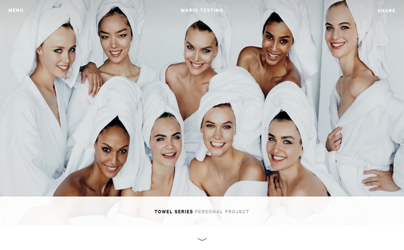 Best Photography Websites // Mario Testino