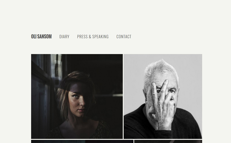 Best Photography Websites // Oli Sansom