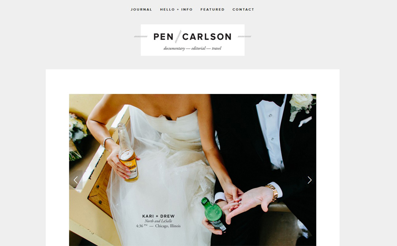 Best Photography Websites // Pen Carlson