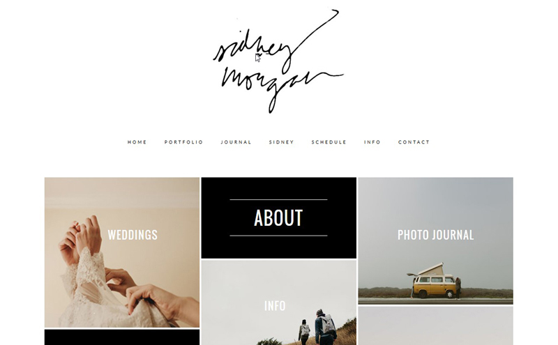 Best Photography Websites // Sidney Morgan