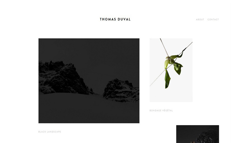 Best Photography Websites // Thomas Duval