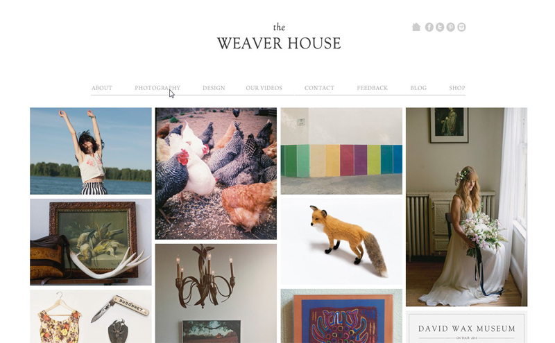 Best Photography Websites // The Weaver House