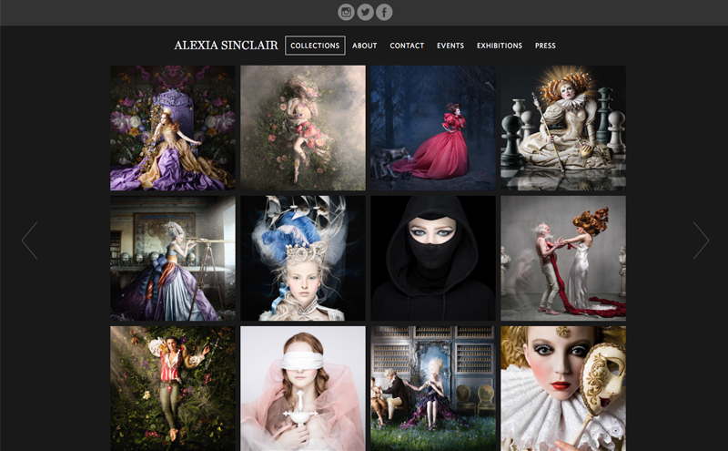 Best Photography Websites // Alexia Sinclair