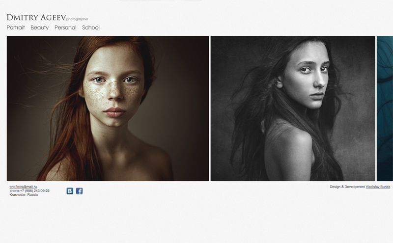 Best Photography Websites // Dmitry Ageeve