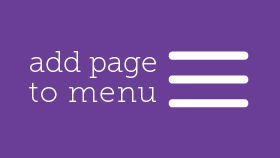 Adding a Page to a Menu - WordPress Video Tutorials